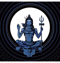 Lord Shiva Hindu god vector
