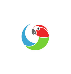 macaw parrot logo vector image