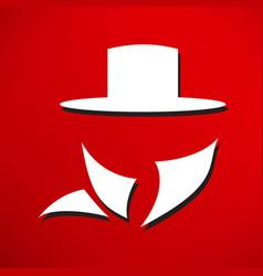 man in suit secret service agent icon vector image