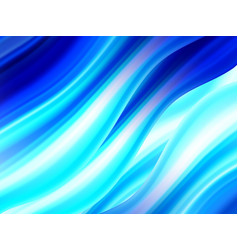 modern blue flow poster liquid wavy shape color vector image
