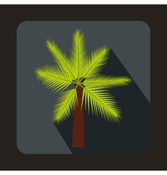 Palm icon in flat style vector image