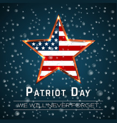 Patriot day 911 digital sign with star onthe vector