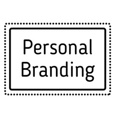 Personal branding stamp on white background vector