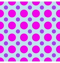 Polka dot geometric seamless pattern vector image