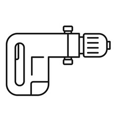 Power drill icon outline style vector
