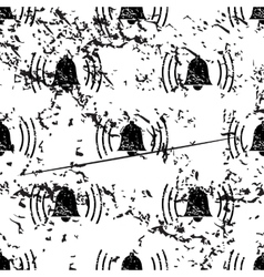 Ringing bell pattern grunge monochrome vector