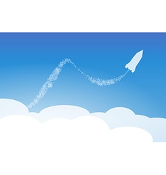 Rocket and cloud vector
