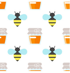 seamless pattern with honey vector image