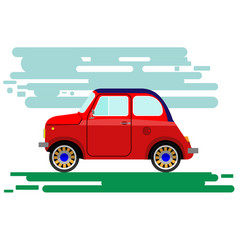 small antique car vector image