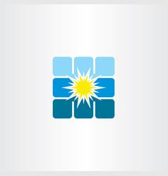 Solar panel energy logo icon vector