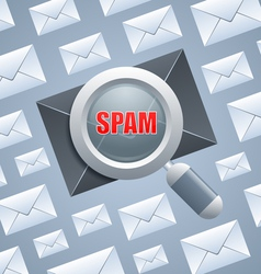 Spam identification vector image