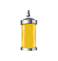 Sprays with yellow paint vector