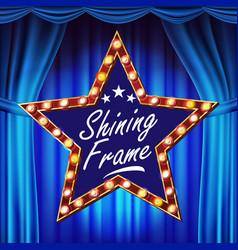 Star billboard shining light sign board vector