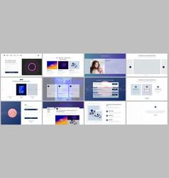 Templates for website design minimal presentation vector