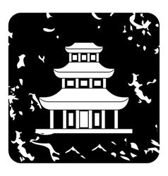 Temple icon grunge style vector