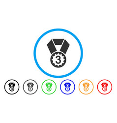 Third place rounded icon vector