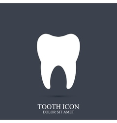 Tooth icon template Medical design vector