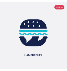 two color hamburguer icon from food concept vector image