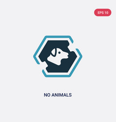 Two color no animals icon from signs concept vector
