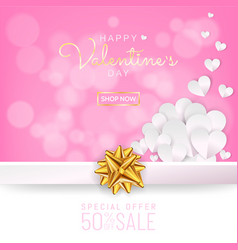 valentines day sale background greeting card vector image