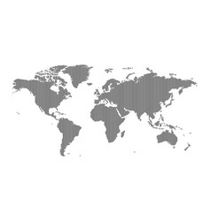 vertical striped world map vector image