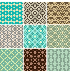 vintage ornament patterns vector image