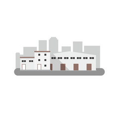 warehouse icon in flat style isolated vector image