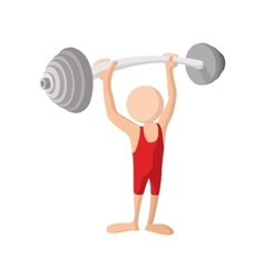 Weightlifting cartoon icon vector