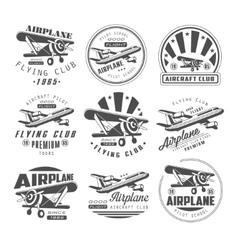 Airplane Club Emblems vector image