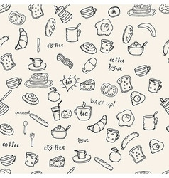 Breakfast pattern vector image vector image
