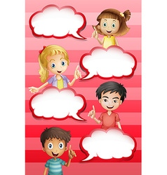 Children and bubble speeches design vector image