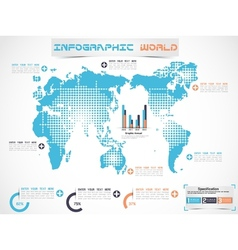 INFOGRAPHIC WORLD MODERN EDITION 2 vector image