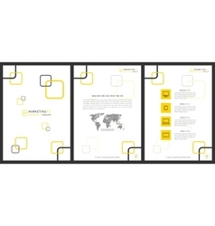 Marketing kit presentation vertical vector image vector image