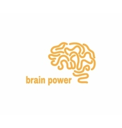 brain logo design template vector image