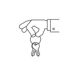 hand holding keys vector image
