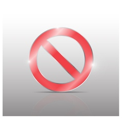 no sign vector image vector image