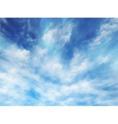 Wispy clouds vector image vector image