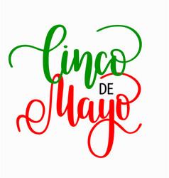 cinco de mayo lettering mexican holiday fiesta vector image