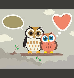 Couple Owl vector image vector image