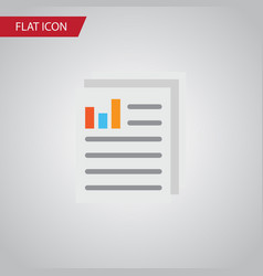 Isolated paper flat icon document element vector