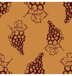 Seamless pattern with hand drawn decorative grapes vector image