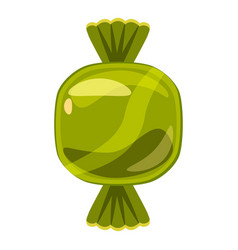 sweet candy in green wrap icon cartoon style vector image vector image