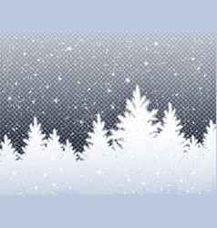 winter christmas landscape with icy spruce forest vector image vector image