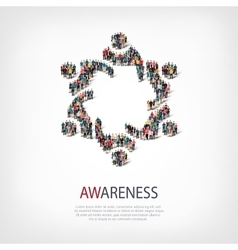 awareness people symbol vector image