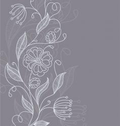 floral back grey vector image vector image
