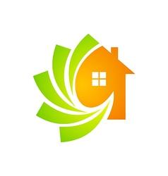 house construction technology logo vector image