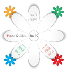 paper daisy vector image vector image