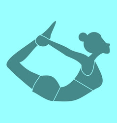 silhouette of bow pose yoga posture vector image
