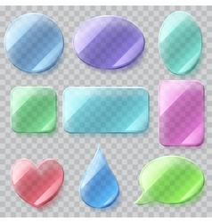 Transparent glass plates vector image