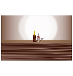 Wine Cocktail Background vector image